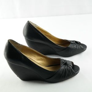 Seychelles Peep Toe Wedges Black sz 8.5